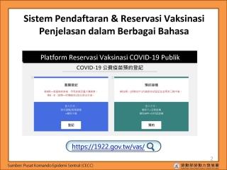 COVID-19疫苗系統使用印尼文教學版本